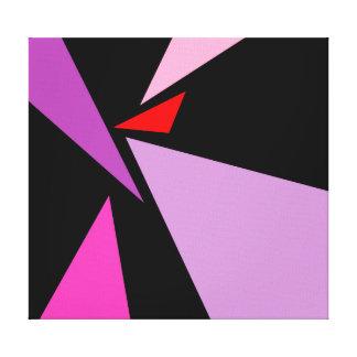Toile enveloppée par noir violet rouge abstrait de toiles