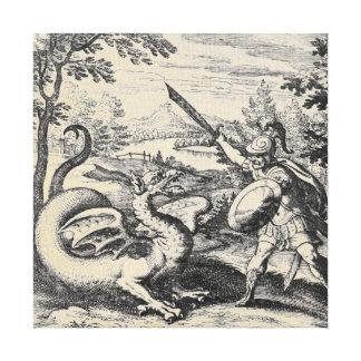 Toile Épée de dragon et de gladiateur
