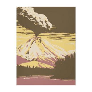 Toile Éruption de volcan