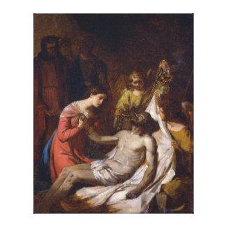 Toile Étude de la lamentation sur le Christ mort