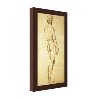 Toile Étude de la statue de David de Michaël Angelo par