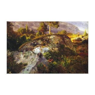 Toile Étude de paysage de Hans Gude de Vågå