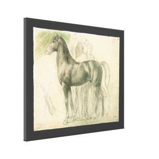 Toile Étude d'un cheval par Edgar Degas, beaux-arts
