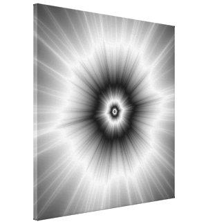 Toile Explosion dans le monochrome