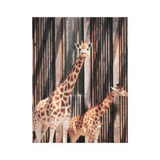 Toile Famille Girafe