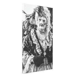 Toile Femme masquée pendant le carnaval de Venise