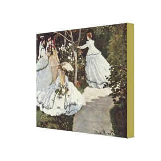 Toile Femmes dans le jardin par Claude Monet