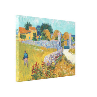 Toile Ferme de Van Gogh dans l'art enveloppé par galerie