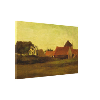 Toile Fermes de Van Gogh dans Loosduinen, la Haye