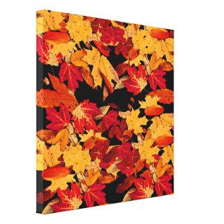 Toile Feuille d'automne dans Brown orange rouge jaune