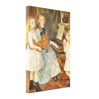 Toile Filles de Catulle Mendes par Pierre Renoir