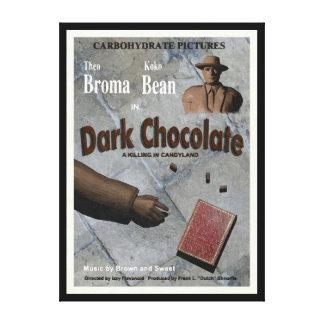 Toile Film foncé de chocolat
