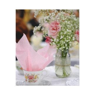 Toile Fleur de tasse de thé