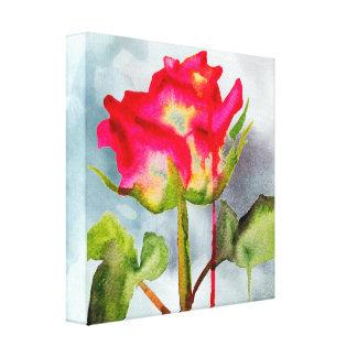 Toile Fleur moderne de thé de rose d'art hybride