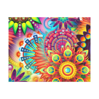 Toile Fleurs colorées