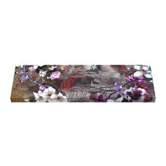 Toile Fleurs de cerisier de geai bleu