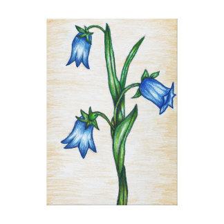 Toile Fleurs de jacinthe des bois