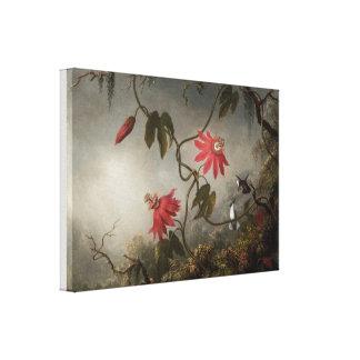 Toile Fleurs et colibris de passion par Martin Heade