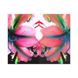 Toile Fleurs reflétées lumineuses peu communes de Lilly