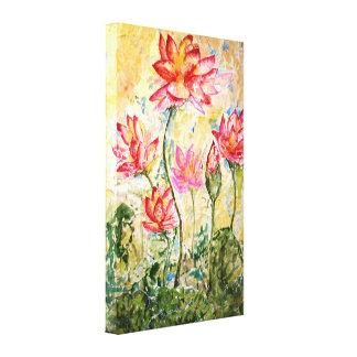 Toile florale rose 18x24 d'impression d'aquarelle