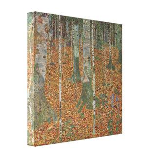 Toile Forêt de bouleau par Gustav Klimt, art vintage
