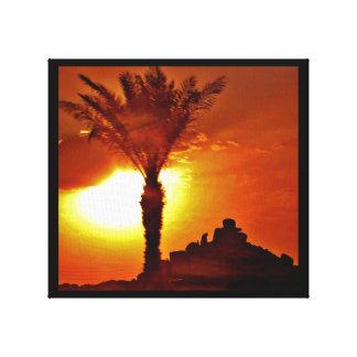 Toile Formations de roche de coucher du soleil