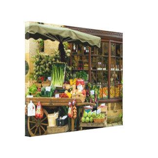 Toile Fruit et magasin anglais coloré de village de Veg