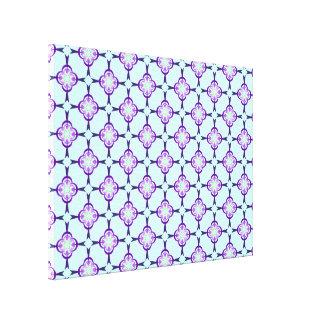 Toile Géométrique dans la copie bleue et pourpre de