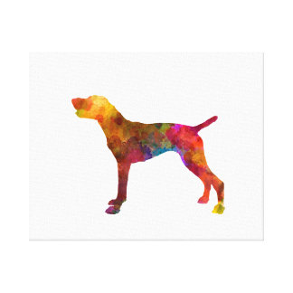 Toile German Shorthaired Pointer in watercolor