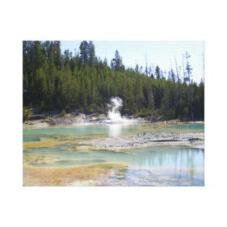 Toile Geysers 2016 de parc de Toile-Yellowstone