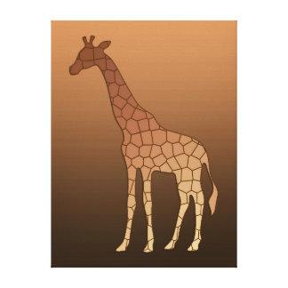 Toile Girafe, cuivre et Brown géométriques modernes