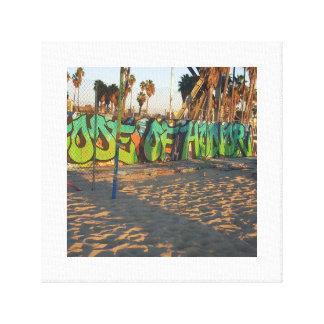 Toile Graffiti de plage