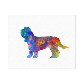 Toile Grand Basset Griffon Vendeen in watercolor