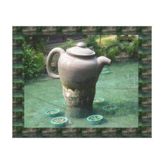 Toile GRAND jardin de thé de la Chine