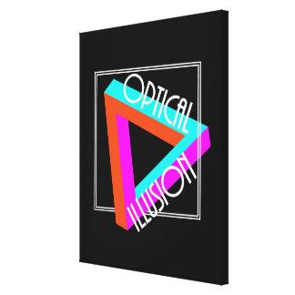 Toile Graphique génial de triangle moderne d'illusion