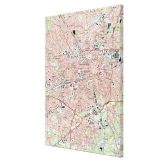 Toile Greensboro la Caroline du Nord Map (1997)