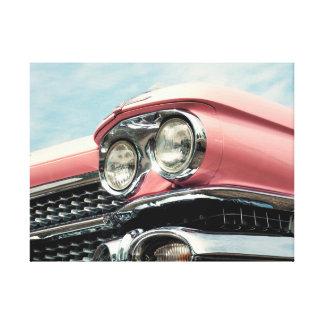 Toile Headlamp of à Old en rose vif car