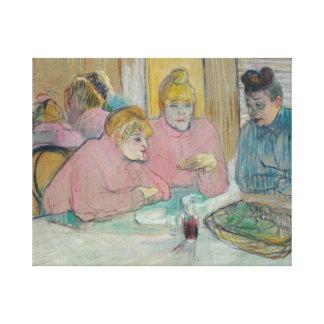Toile Henri De Toulouse-Lautrec - dames dans la salle à