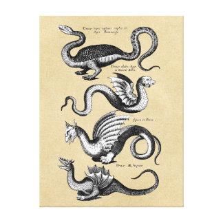 Toile Histoire de diagramme de mur de dragons