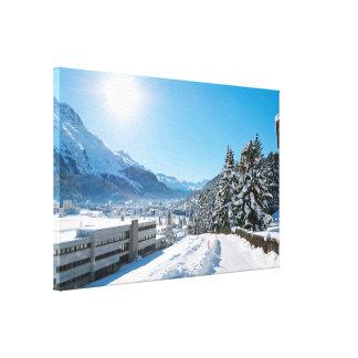 Toile Hiver à St Moritz