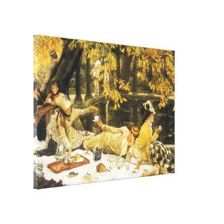 Toile Holyday, le pique-nique par James Tissot, art