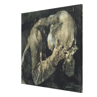 Toile Homme de Vincent van Gogh | avec sa tête dans des
