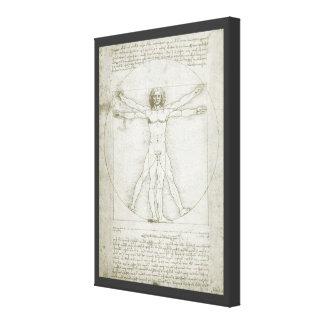 Toile Homme de Vitruvian par Leonardo da Vinci