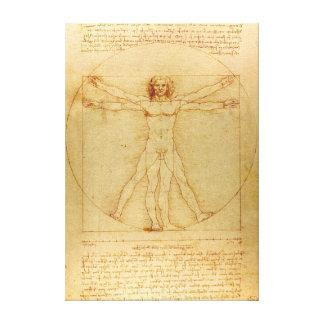 Toile Homme iconique de Leonardo da Vinci Vetruvian