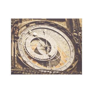Toile Horloge astronomique dans la République Tchèque de