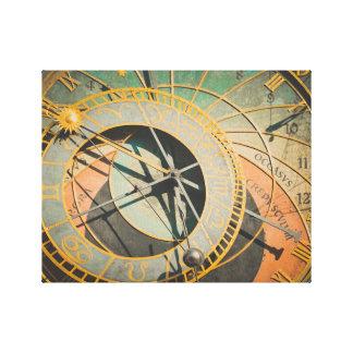 Toile Horloge astronomique de Prague dans la République