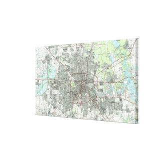 Toile Houston le Texas Map (1992)