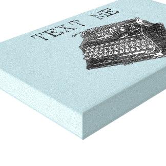 Toile Illustration antique de machine à écrire