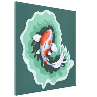 Toile Illustration de carpe de Koi