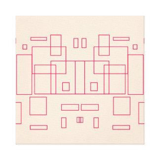 Toile Illustration de croquis d'architecte de modèle